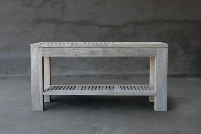 Reclaimed Teak Outdoor Console Clubcu