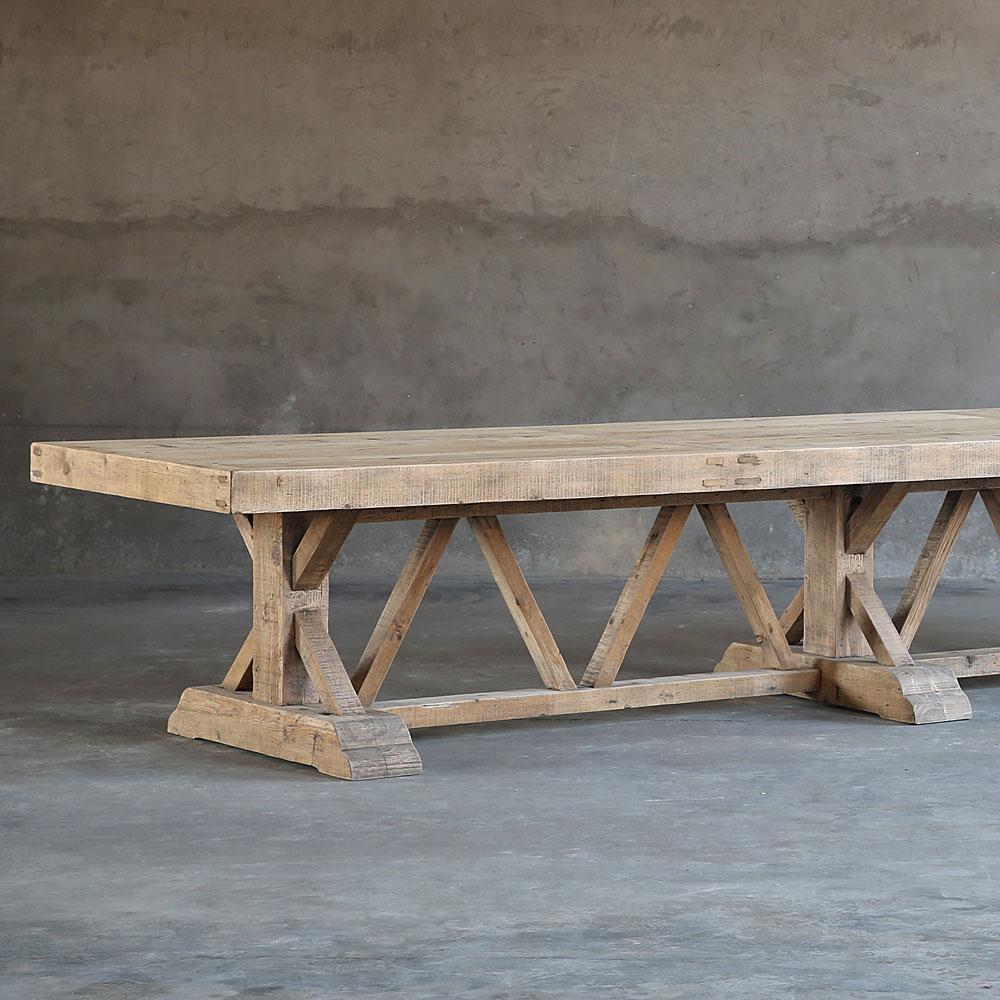 Salvaged Wood Trestle Table Clubcu